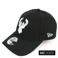 New Era Milwaukee Bucks Black Cloud Snapback Hat
