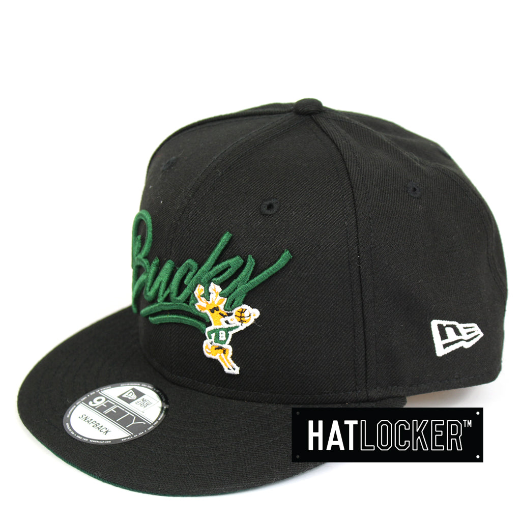 New Era Milwaukee Bucks Script HWC Snapback Cap