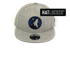 New Era Minnesota Timberwolves Running Circles Heather Grey Youth Snapback