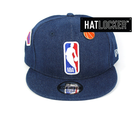 New Era NBA Logoman Denim Snapback Cap