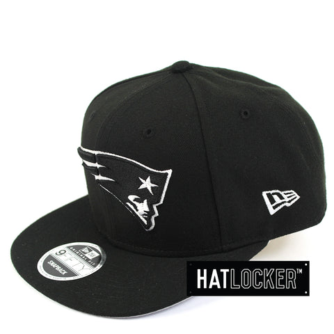 New Era New England Patriots Black White Snapback Cap