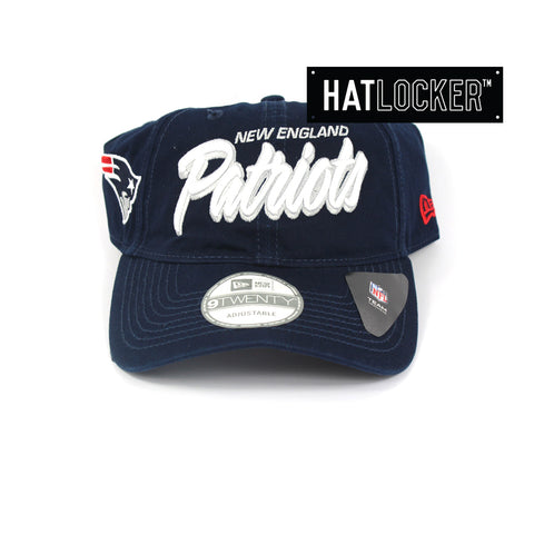 New Era New England Patriots Core Script Curved Brim Cap