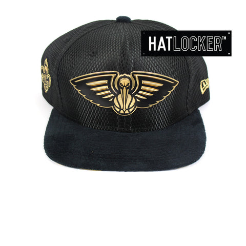 New Era - New Orleans Pelicans On-Court Black Gold Snapback