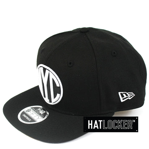 New Era New York City Black Peanut Snapback Hat