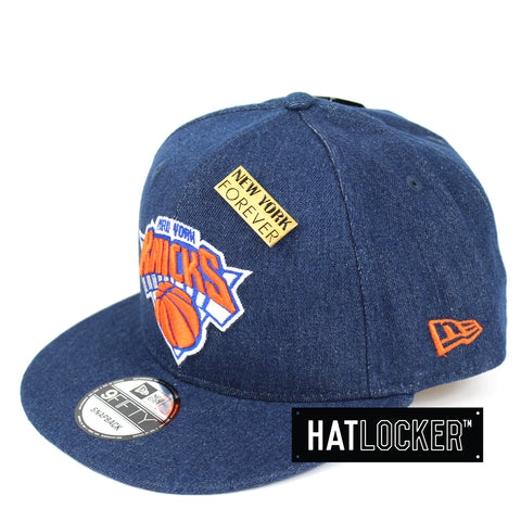 New Era New York Knicks Denim Snapback Cap