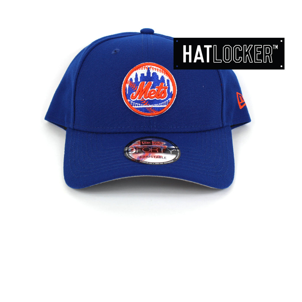New Era New York Mets Team Badge Curved Snapback Cap