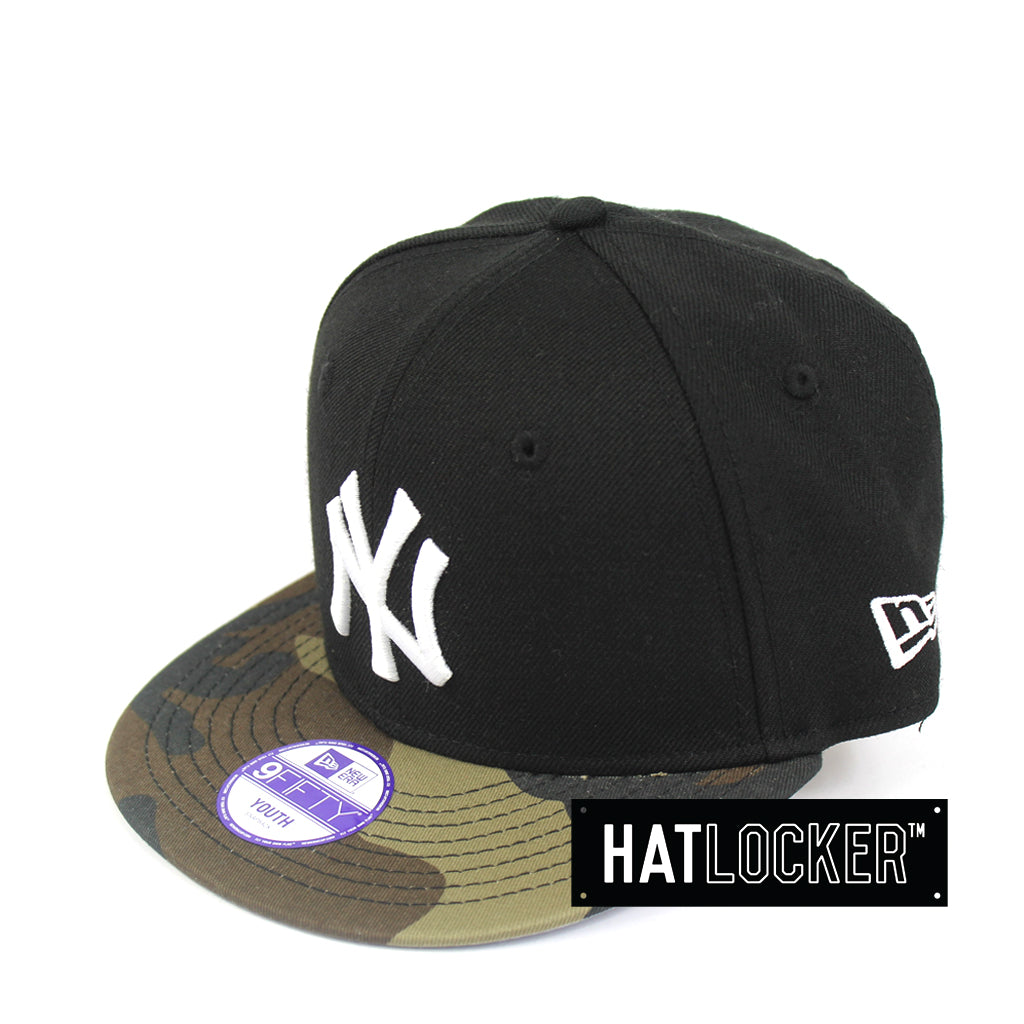 New Era New York Yankees Black Camo Youth Snapback Hat 29dedd0498f