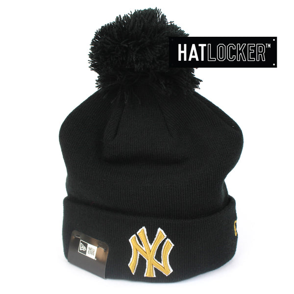 New Era New York Yankees White Gold Logo Beanie