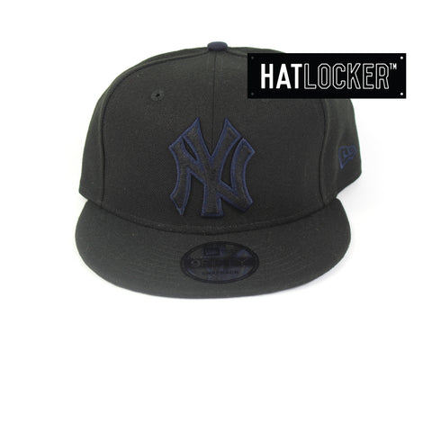 New Era New York Yankees Black Team Pop Snapback Hats