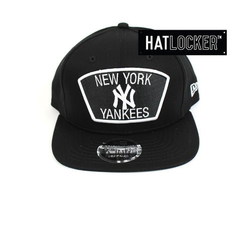 New Era - New York Yankees Black White Cotton Snapback