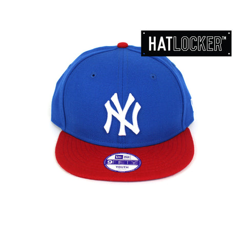 New Era - New York Yankees Blue Scarlet Youth Snapback