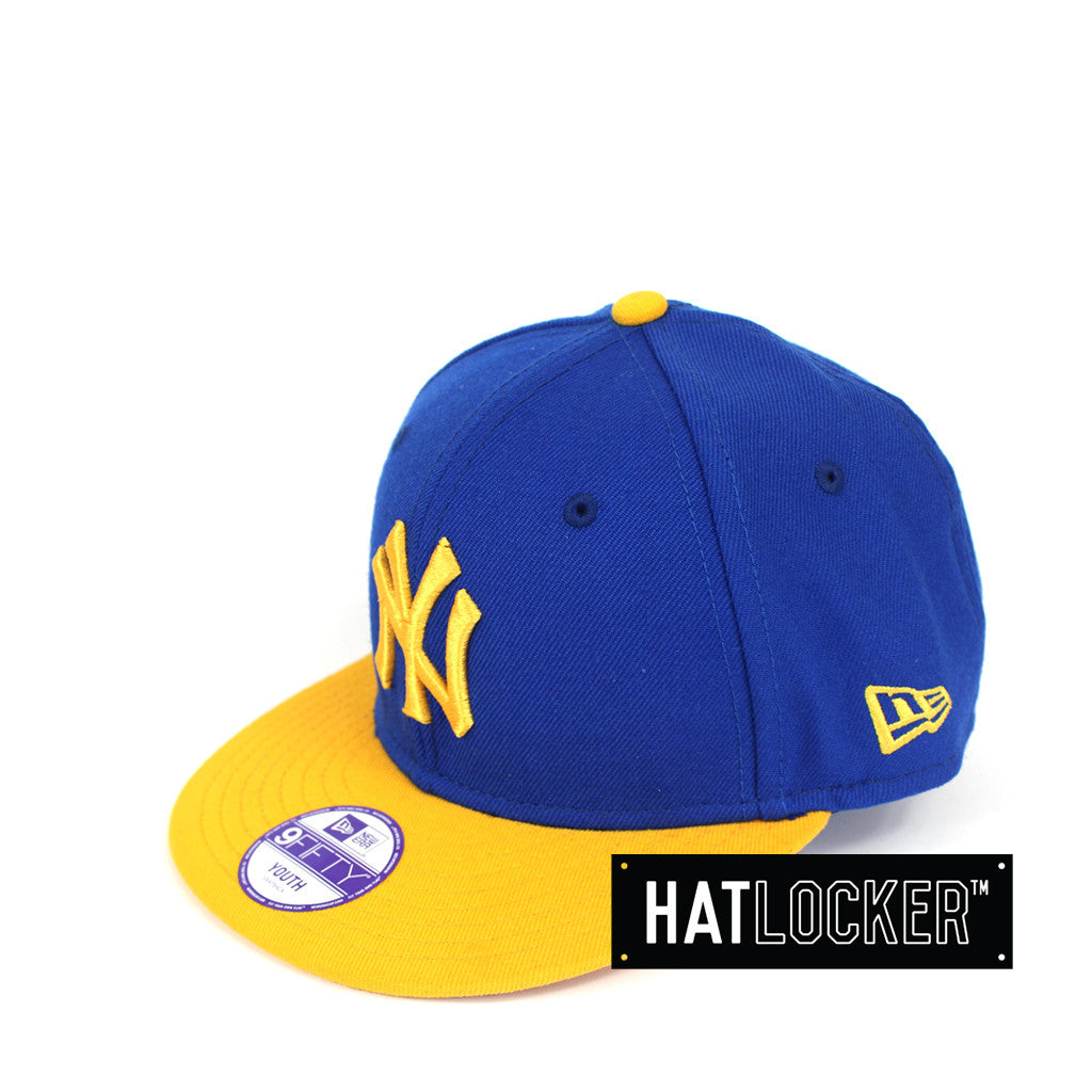 68bb6571 Details about New Era - New York Yankees Blue Yellow Youth Snapback