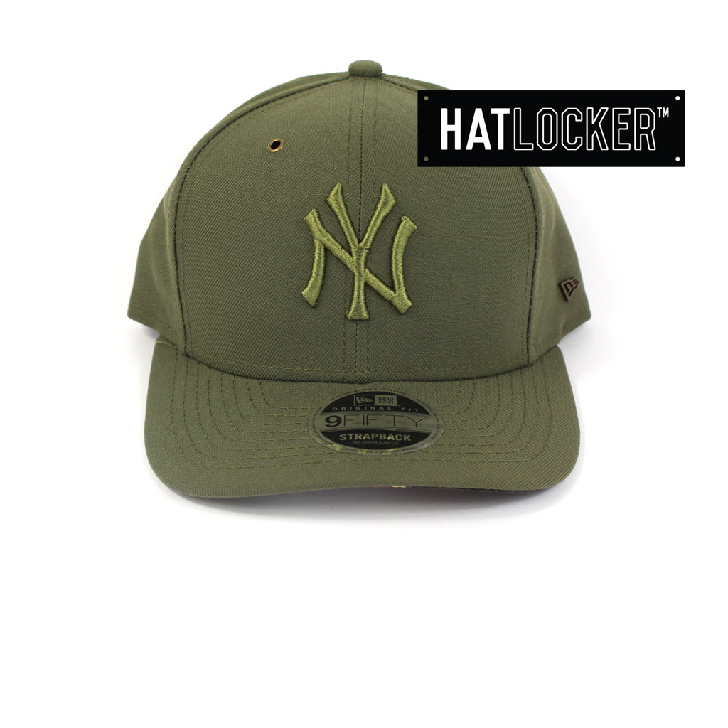 New Era New York Yankees Camo Tiger Hit Olive Precurved Strapback Hat 26f2c3efb0e2