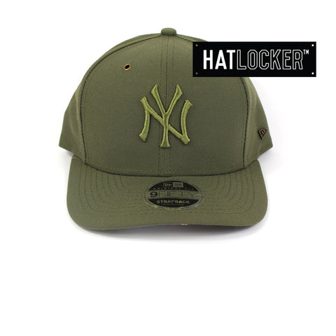 New Era New York Yankees Camo Tiger Hit Olive Precurved Strapback Hat