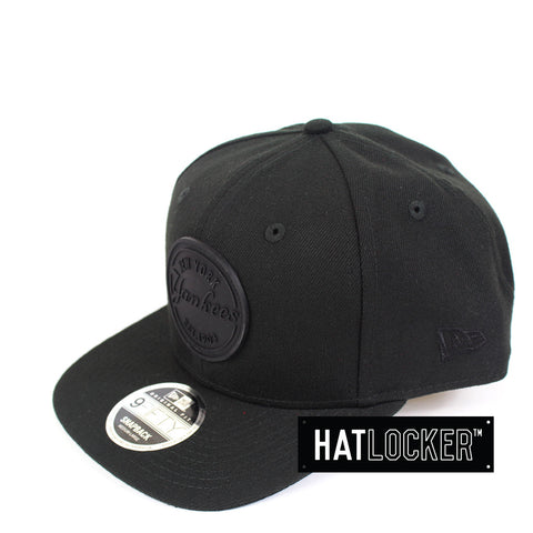 New Era - New York Yankees Emblem Rubber Patch Black Snapback