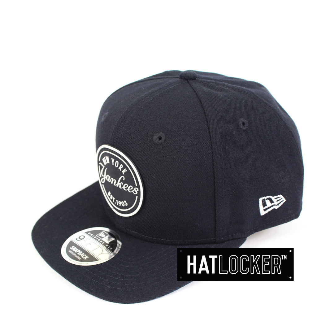 a762727b7ff Details about New Era - New York Yankees Emblem Rubber Patch Navy Snapback