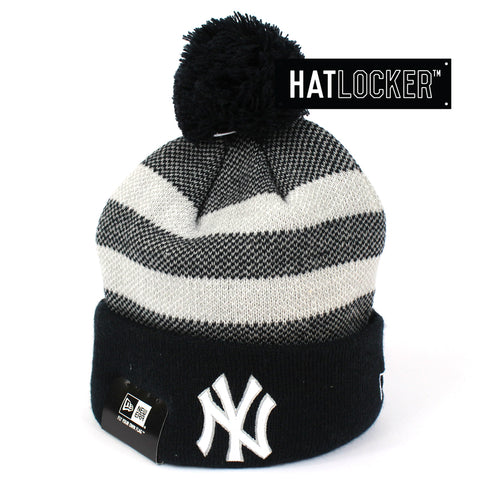 New Era New York Yankees Grand Cuff Pom Knit Beanie