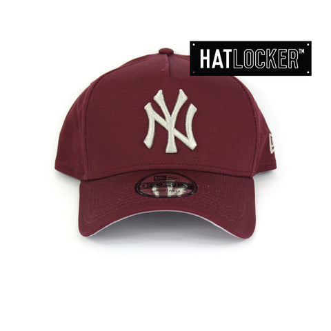 New Era New York Yankees Maroon Curved Brim Snapback