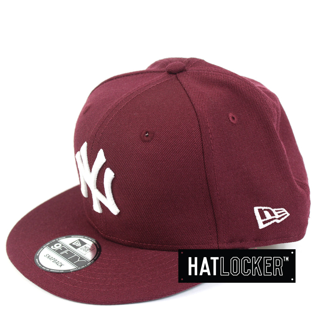 New Era New York Yankees Maroon Mix Snapback Cap