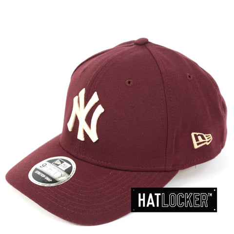 New Era New York Yankees Maroon Precurved Snapback Cap