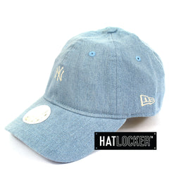 Hat Locker Australia New Era Women's New York Yankees Mini Logo Denim Curved Brim Cap Side
