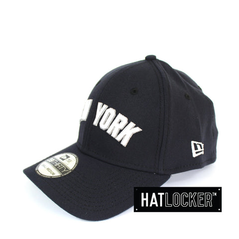 New Era - New York Yankees Script Navy Curved Brim Stretch Fit