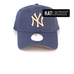 New Era Womens New York Yankees Blueberry Apricot Curved Strapback