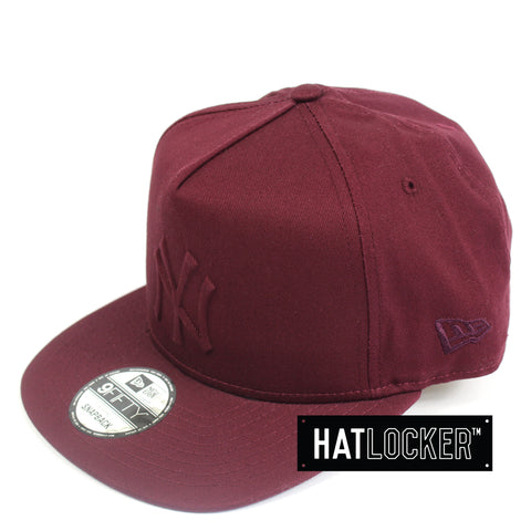 New Era New York Yankees Tonal Gel Maroon Snapback Cap
