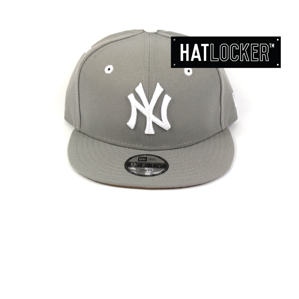 8d8a2f9d800081 New Era   Official MLB New York Yankees Grey Wheat Youth Snapback ...