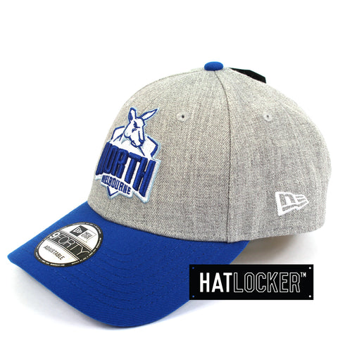 New Era North Melbourne Kangaroos Heather Curved Snapback Hat