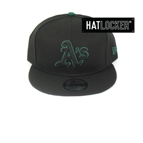 New Era Oakland Athletics Black Team Pop Snapback Hat