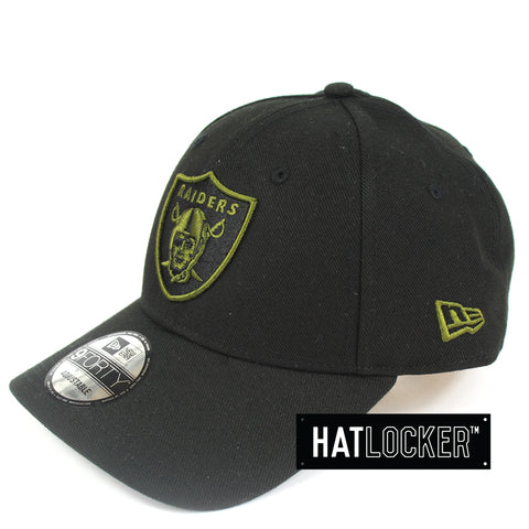 New Era Oakland Raiders Olive Black Curved Snapback Hat