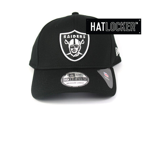 New Era Oakland Raiders Black White Performance Curved Brim Hat