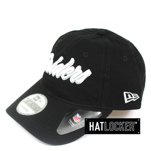 New Era Oakland Raiders Core Script Curved Brim Cap