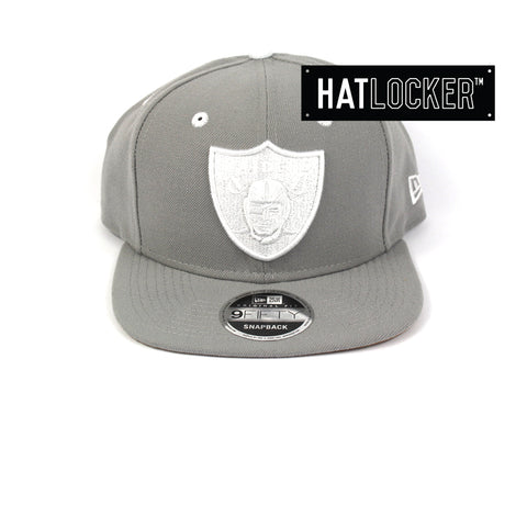 New Era Oakland Raiders Grey Wheat Snapback Cap
