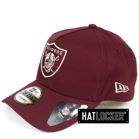 New Era Oakland Raiders Maroon Curved Brim Snapback Cap