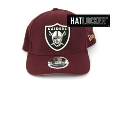 New Era Oakland Raiders Maroon Precurved Snapback Cap