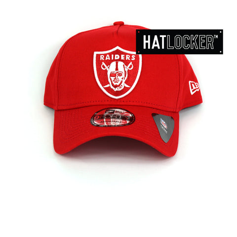 New Era Oakland Raiders Red Curved Brim Snapback Cap