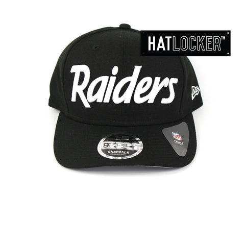 New Era Oakland Raiders Throwback Precurved Snapback Cap