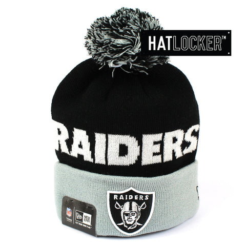 New Era Oakland Raiders Winter Fresh Pom Knit Beanie