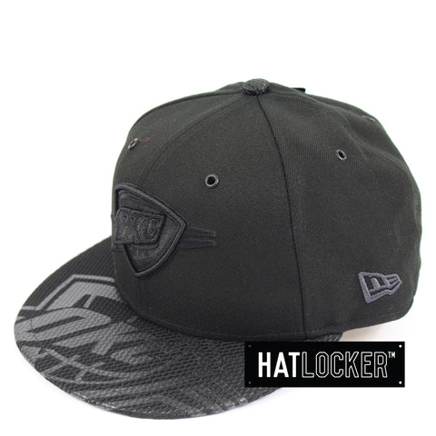 New Era Oklahoma City Thunder On Court Black Collection Snapback Hat