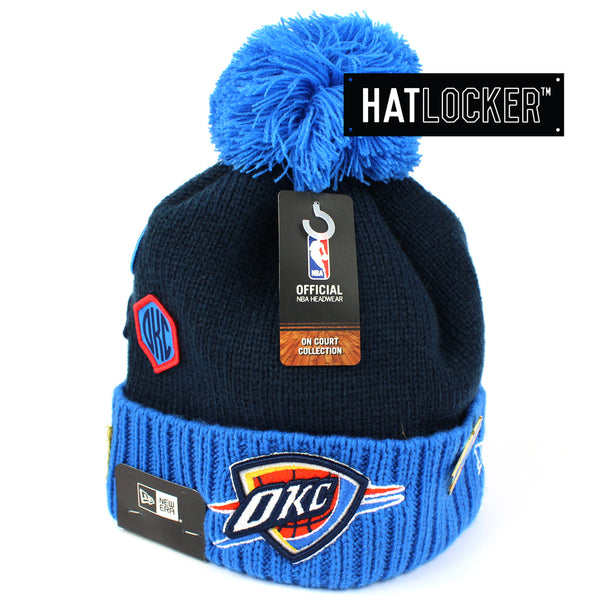 new concept b13b7 d80fc wholesale oklahoma city thunder new era nba on court collection cuff knit  767a2 37e60