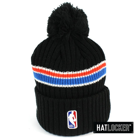 New Era Oklahoma City Thunder BH Series Black Pom Knit Beanie
