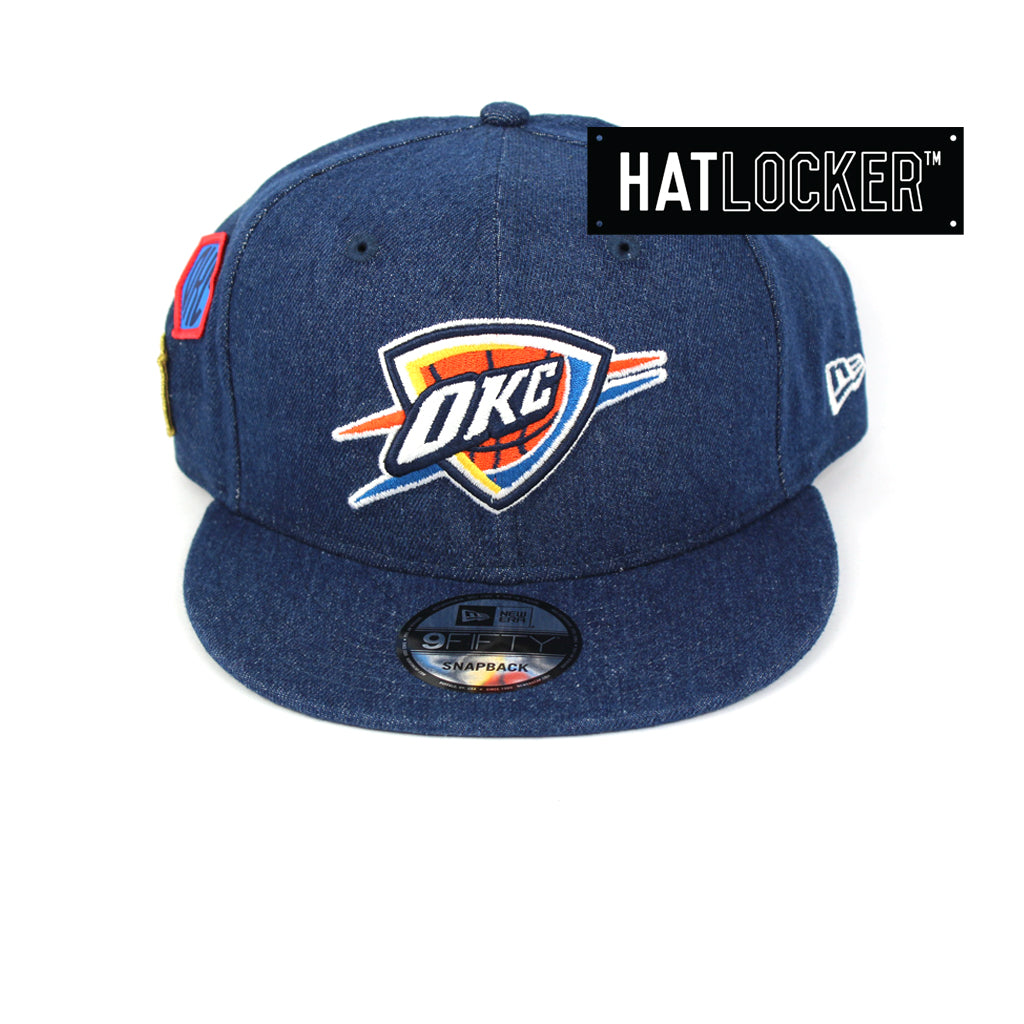 New Era Oklahoma City Thunder Denim Snapback Cap