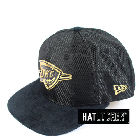 New Era - Oklahoma City Thunder On-Court Black Gold Snapback