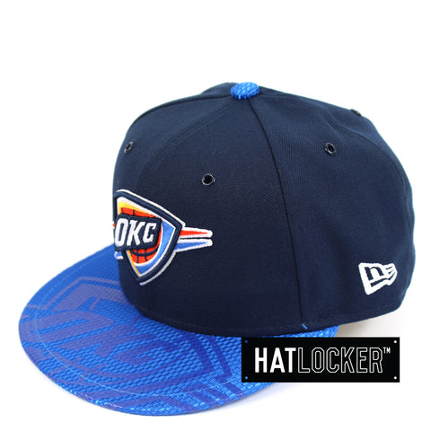 New Era Oklahoma City Thunder On-Court Emblem Collection Snapback Hat