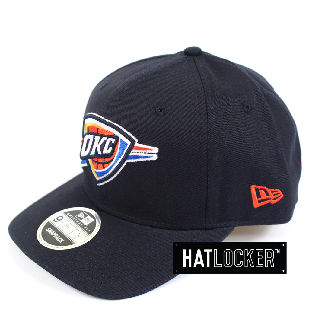 New Era NBA Oklahoma City Thunder Precurved Snapback Side Hat Locker Australia