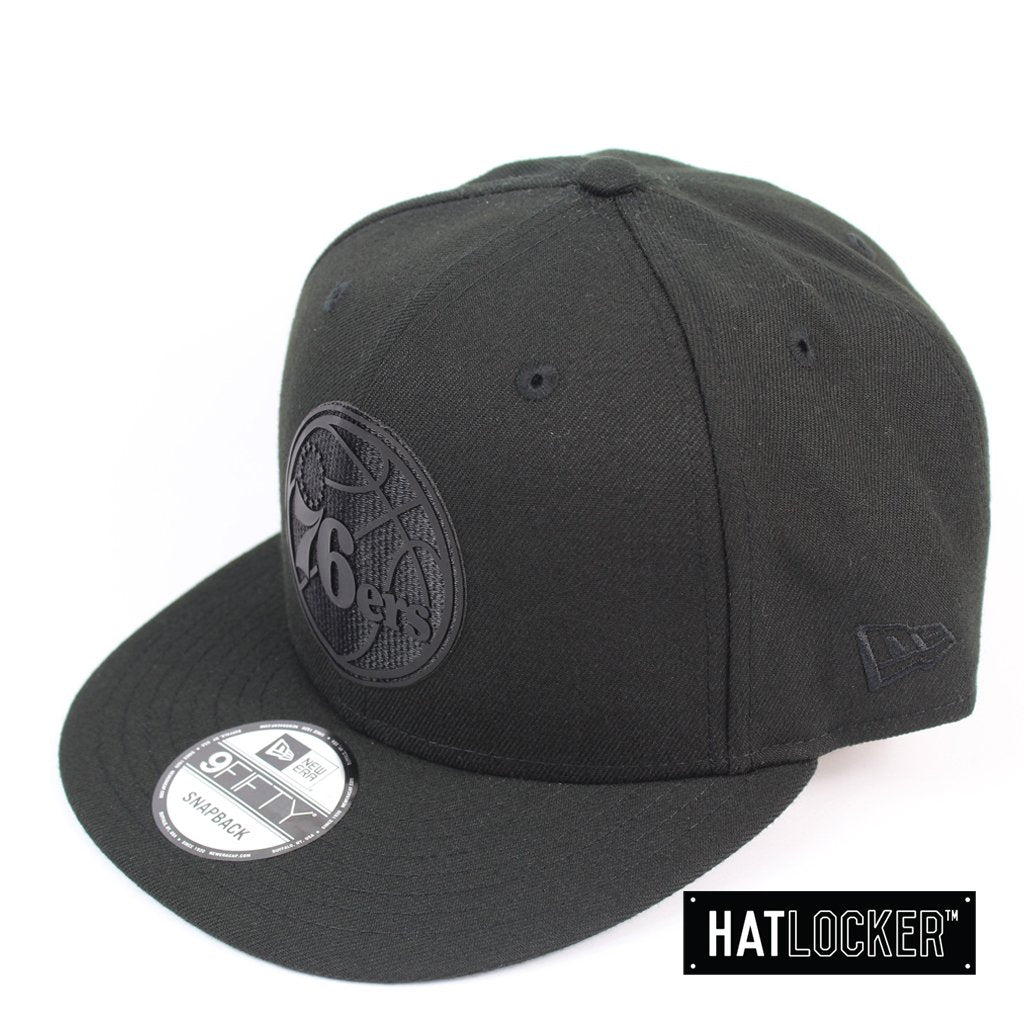 New Era Philadelphia 76ers BH Series Black On Black Snapback