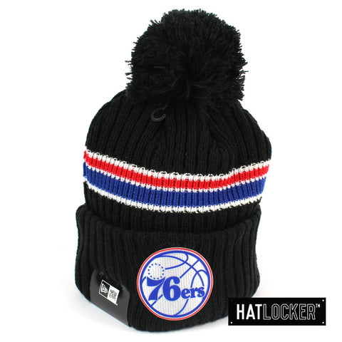 New Era Philadelphia 76ers BH Series Black Pom Knit Beanie