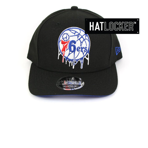 New Era Philadelphia 76ers Double Dribble Black Precurved Snapback